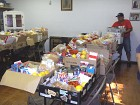 Sorting Food into Boxes for Each Family