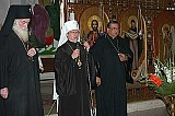 Archbishop Dmitri, Metropolitan Herman & Fr. Ernesto Rios at the Cathedral in Mexico City